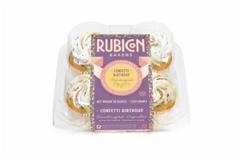 Rubicon Bakers Confetti Birthday Cupcakes Perspective: front
