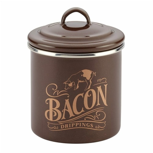 Ayesha Curry 09080 Ayesha Collection Enamel on Steel Bacon Grease Cans, Brown Sugar & Basil Perspective: front