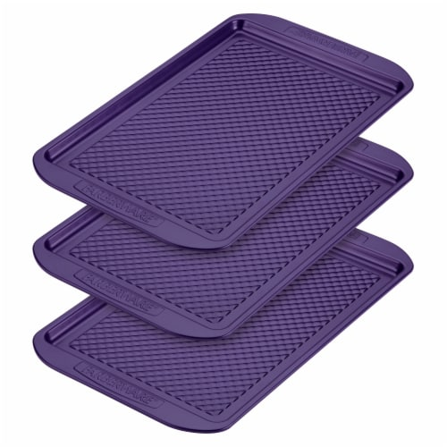 Farberware Colorvive Nonstick Cookie Pans - 3 Pack - Purple Perspective: front