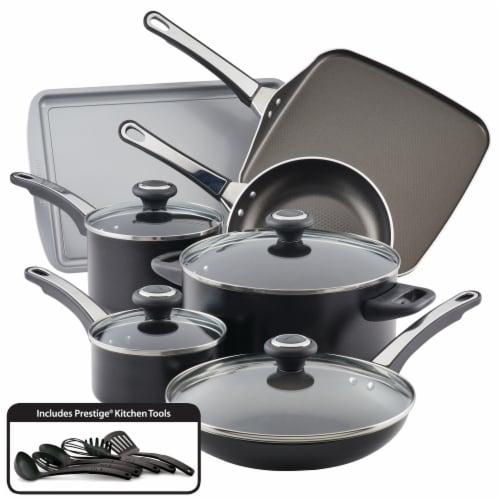 Farberware High Performance Nonstick Cookware Set - Black Perspective: front