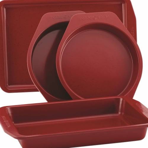 Paula Deen Nonstick Bakeware Set, Red Speckle - 4 Piece Perspective: front