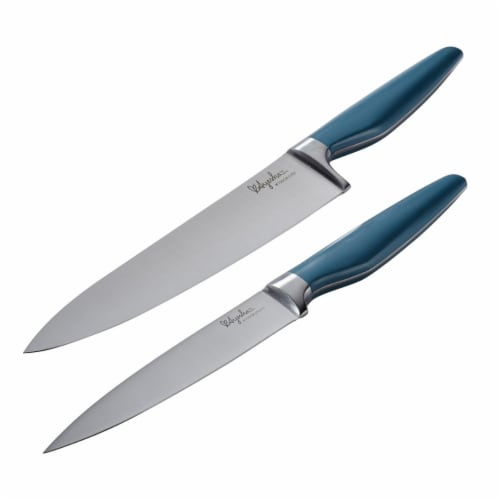 Ayesha Curry 46937 Japanese Steel Cooking Knife Set, Twilight Teal, 2 Piece Perspective: front
