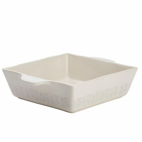 Ayesha Curry 46941 Ceramic Square Baker, 8 x 8 in. - French Vanilla Perspective: front