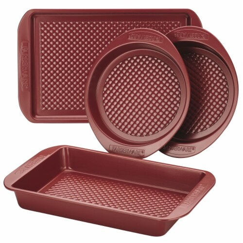 Farberware Colorvive Nonstick Bakeware Set, Red - 4 Piece Perspective: front