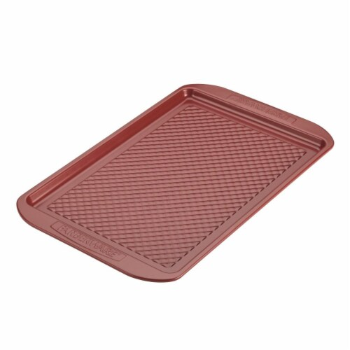 Farberware Colorvive Nonstick Cookie Pan, Red - 11 x 17 in. Perspective: front