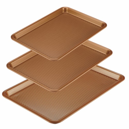 Ayesha Curry Bakeware Nonstick Cookie Pan Set - Copper, 3 Piece Perspective: front