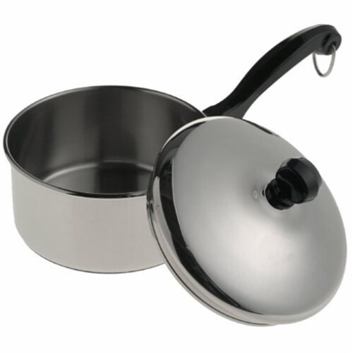 Farberware 1 Qt. Stainless Steel Saucepan with Lid Perspective: front