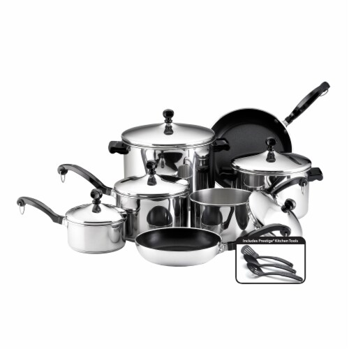 Farberware Classic Series Stainless Steel Cookware Set - Silver Perspective: front