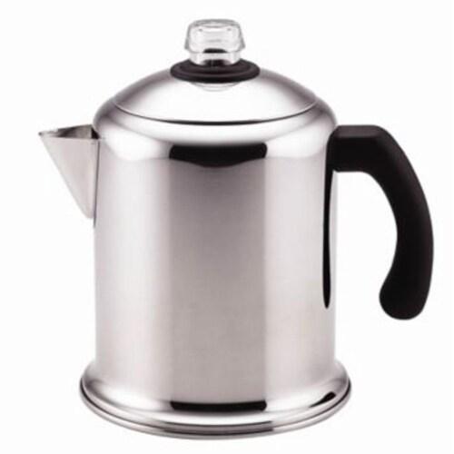 Farberware Classic Stainless Steel Yosemite Coffee Percolator - Silver Perspective: front