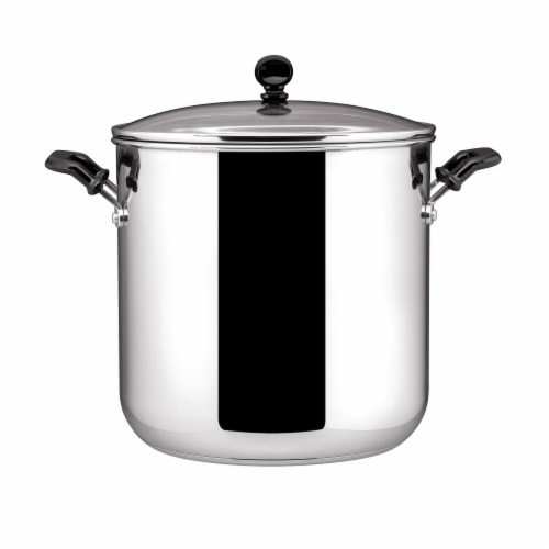 Farberware Classic Series Covered Stockpot - Silver Perspective: front