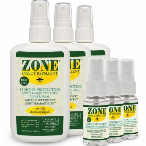 Zone Repellents 101-SC1 Insect Repellent Spray Super Pack Perspective: front