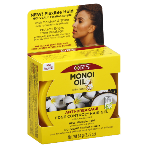 ORS Monoi Oil Edge Control Hair Gel Perspective: front
