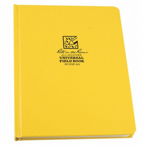 Rite in the Rain All Weather Notebook,Nonwirebound  370F-LG Perspective: front