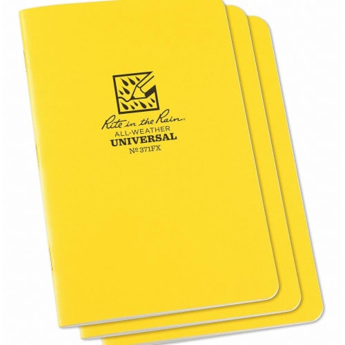 Rite in the Rain All Weather Notebook,Nonwirebound,PK3  371FX Perspective: front