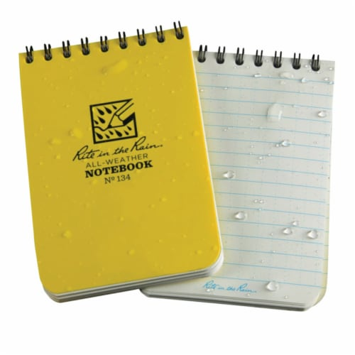 Rite In The Rain All-Weather 3 in. W x 4-1/2 in. L Spiral Notebook - Case Of: 12; Each Pack Perspective: front