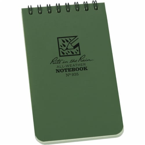 Rite in the Rain All Weather Notebook,Wirebound  935 Perspective: front