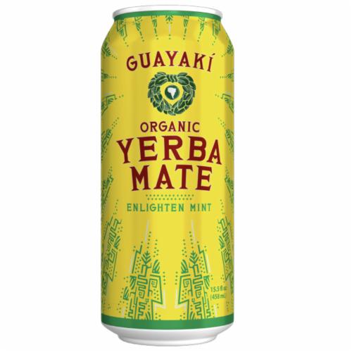 Guayaki Yerba Mate Organic Enlighten Mint Energy Drink Perspective: front