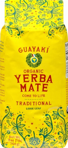 Guayaki Yerba Mate Traditional Loose Tea Perspective: front
