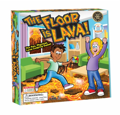 Endless Games The Floor is Lava! Board Game Perspective: front