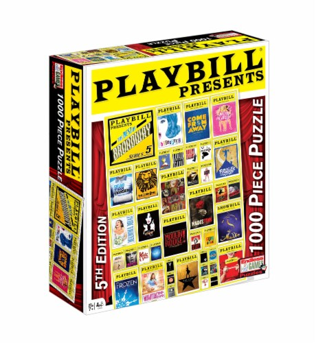 Endless Games Playbill Presents Broadway Puzzle Perspective: front
