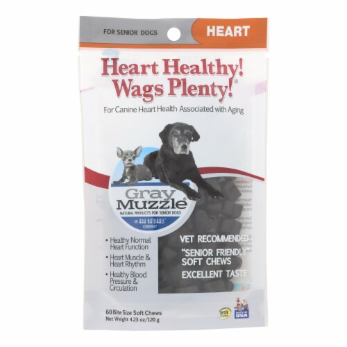 Ark Naturals Heart Healthy Wags Plenty - Gray Muzzle - 60 count - 1 each Perspective: front