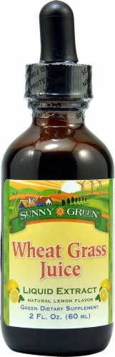 Sunny Green Natural Lemon Wheat Grass Juice Liquid Extract Perspective: front