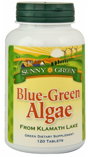 Sunny Green Blue Green Algae Tablets Perspective: front