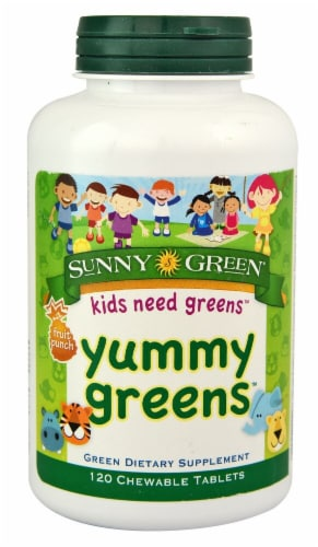 Sunny Green  Yummy Greens™   Fruit Punch Perspective: front