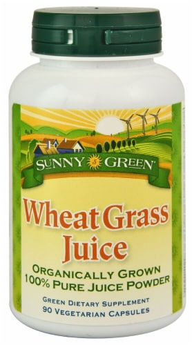 Sunny Green  Wheat Grass Juice Perspective: front