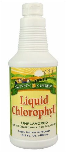 Sunny Green  Liquid Chlorophyll   Unflavored Perspective: front