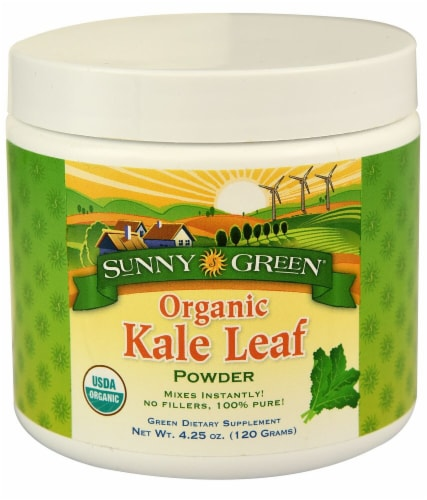 Sunny Green  Organic Kale Leaf Powder Perspective: front