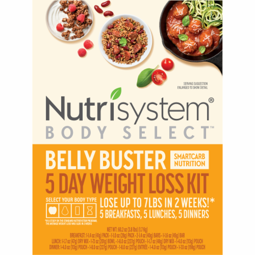 Nutrisystem Belly Buster 5 Day Weight Loss Kit Perspective: front
