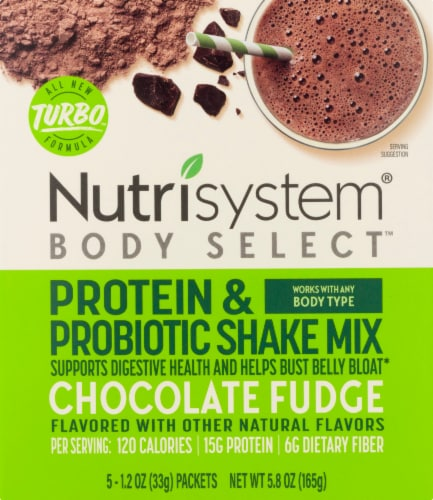 Nutrisystem Chocolate Fudge Protein & Probiotic Shake Mix Perspective: front