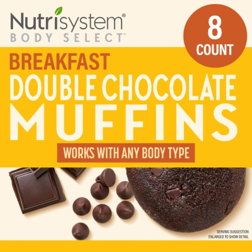 Nutrisystem Double Chocolate Muffins Perspective: front