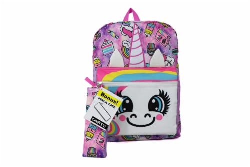 Cudlie Backpack & Pencil Case Set - Spaced Out Unicorn Perspective: front