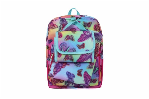 Cudlie Backpack Set - Rainbow Butterfly Perspective: front