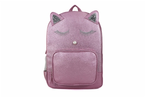 Cudlie Fashion Backpack - Pink Cat Perspective: front