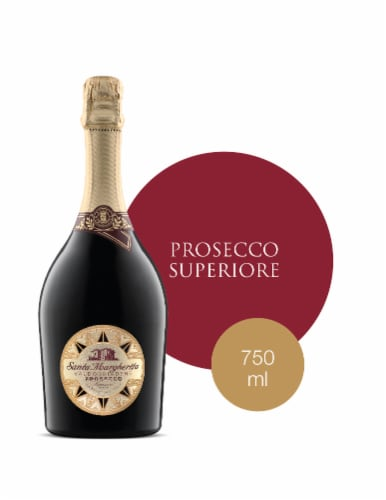 Santa Margherita Prosecco Sparkling Wine Perspective: front
