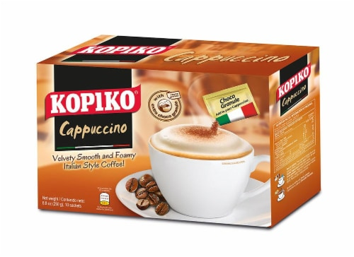 Kopiko Cappuccino With Choco Granule Sachets Perspective: front