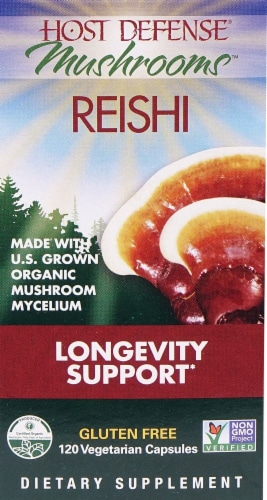 Fungi Perfecti  Host Defense® Mushrooms™ Organic Reishi Perspective: front