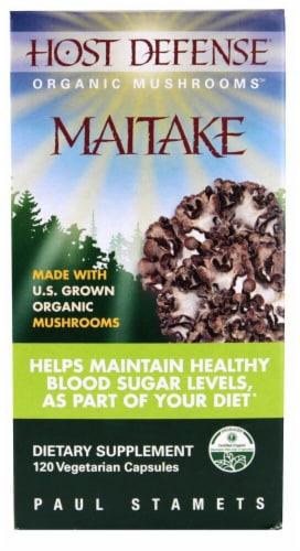 Host Defense Organic Maitake Mushroom Vegetarian Capsules Perspective: front