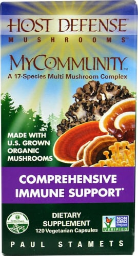 Fungi Perfecti  Host Defense MyCommunity™ Comprehensive Immune Support Perspective: front