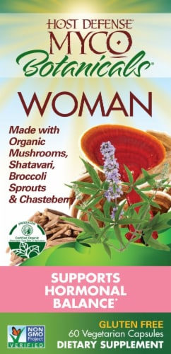 Host Defense Botanicals Women Hormonal Balance Capsules Perspective: front