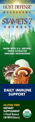 Host Defense Mushroom Immune Support Stamets 7 Extract Perspective: front
