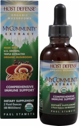 Fungi Perfecti  Host Defense® MyCommunity® Organic Mushrooms Extract Perspective: front