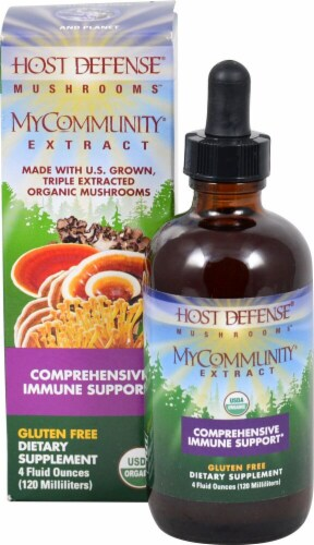Fungi Perfecti  Host Defense® Mushrooms™ MyCommunity® Extract Perspective: front