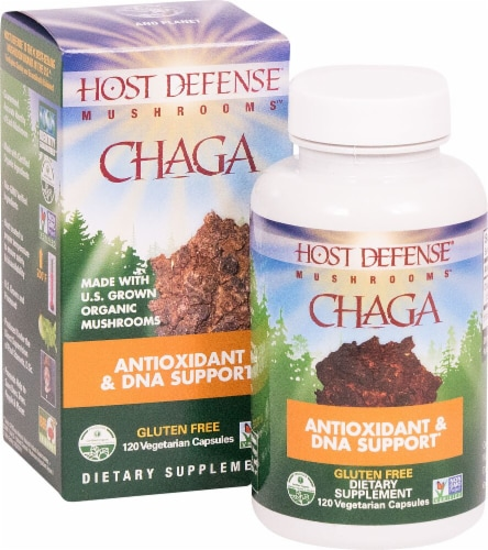 Fungi Perfecti  Host Defense Chaga Antioxidant & DNA Support Perspective: front