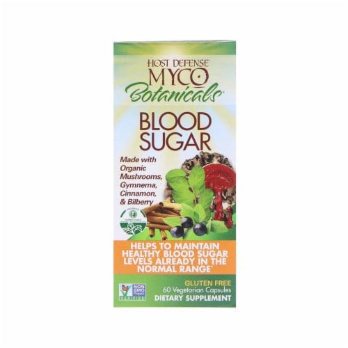 Fungi Perfecti Host Defense MycoBotanicals Blood Sugar, 60 Vegetarian Capsules Perspective: front