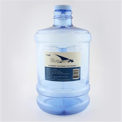 Bluewave Lifestyle BPA Free 1 Gallon Round Water Bottle with 48 mm Cap Perspective: front