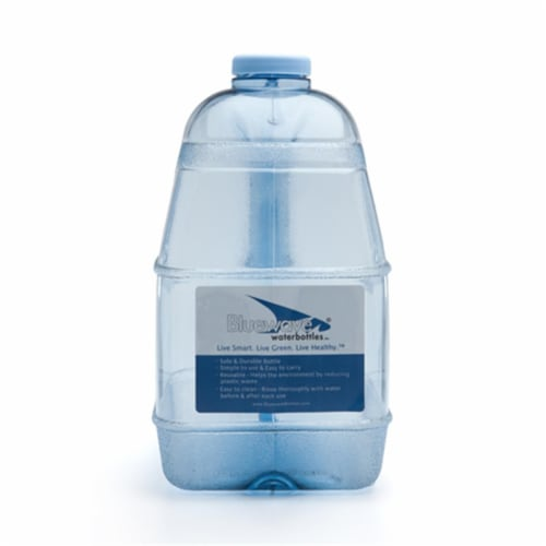Bluewave Lifestyle BPA Free 1 Gallon Square Water Bottle with 48 mm Cap Perspective: front